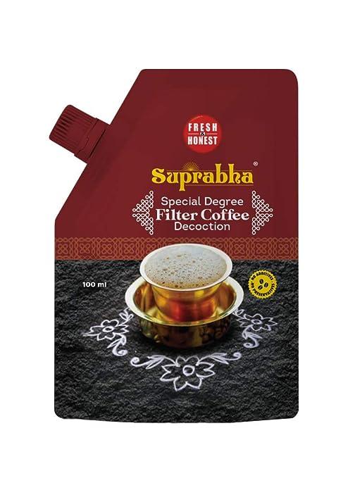 Fresh & Honest Suprabha Special Degree Filter Coffee Decoction, 5 x 100 ml