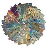 Amariver 288 Pieces Nail Vinyls Stencils Nails Stickers Set, 24 Sheets 96 Designs Nail Art Sticker Decals 3D Stencils DIY Decoration Tools for Women Girls