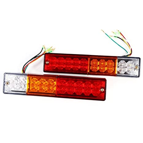 2 x LED-luces luz trasera lámpara 5 colgantes de función caravanas