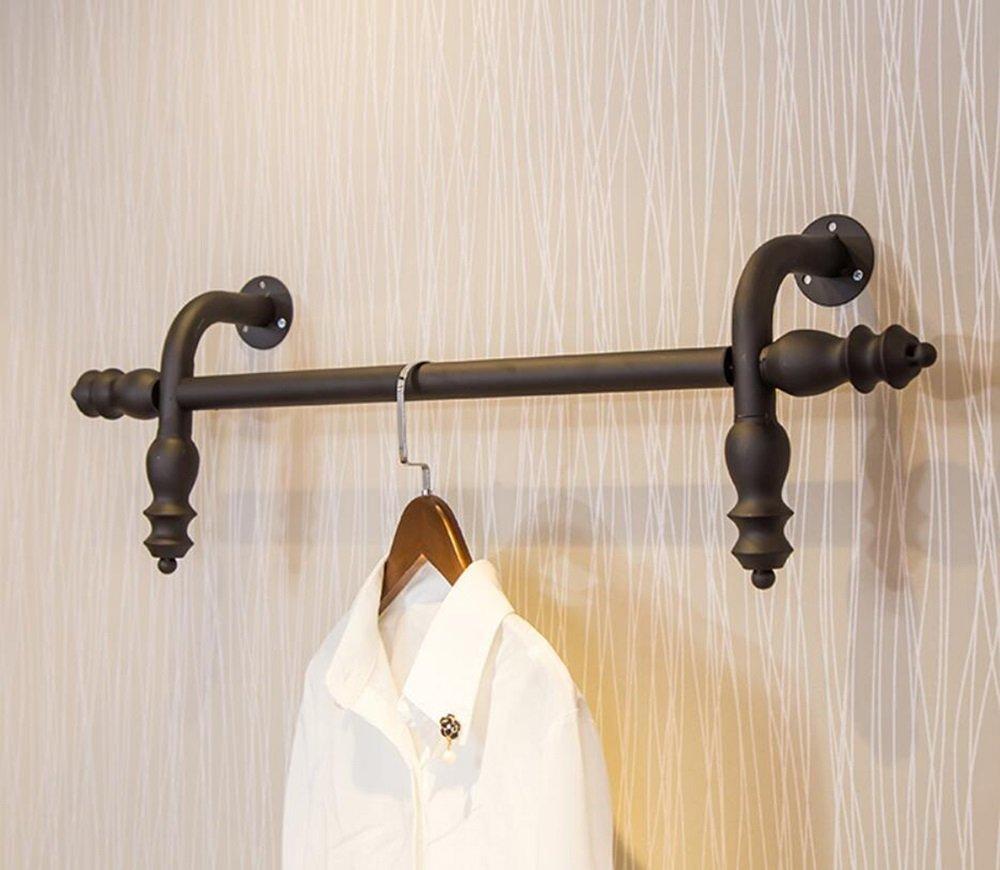 レトロ服店ディスプレイスタンドウォールマウントハンガー服ハンガーシェルフ (サイズ さいず : 80センチメートル) 80センチメートル  B07QWL4R4L