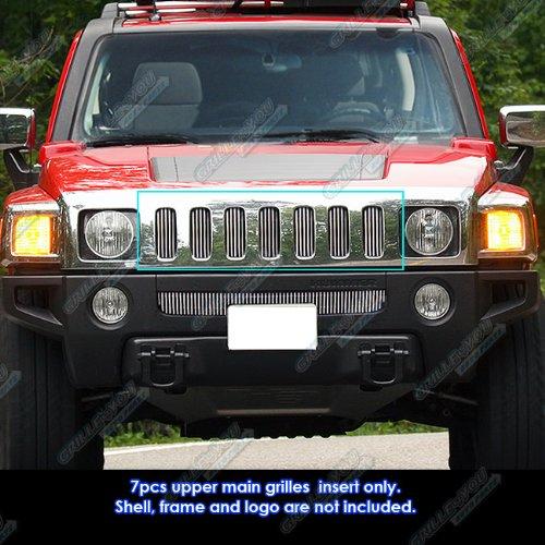 APS Fits 06-10 Hummer H3 Main Upper Billet Grille Insert #N19-V85466C ()