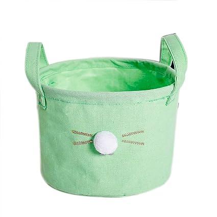 Toruiwa - Cesta Plegable con asa, diseño de Gatos, para niños, para la Ropa de los niños, ...