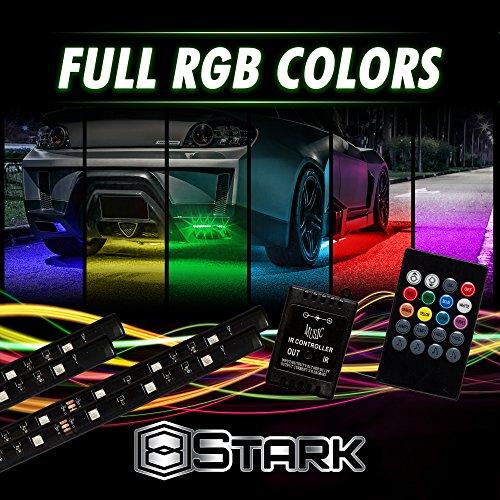 (4 PCS - LED Neon Undercar Glow Light/Underglow / Show Car Lights Kit - LED Strip Underbody Kit RGB - 23.5