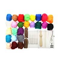 Prettyia Needle Felting Starter Kit Wool Felt Needles Mat Tools for Handmade Crafts