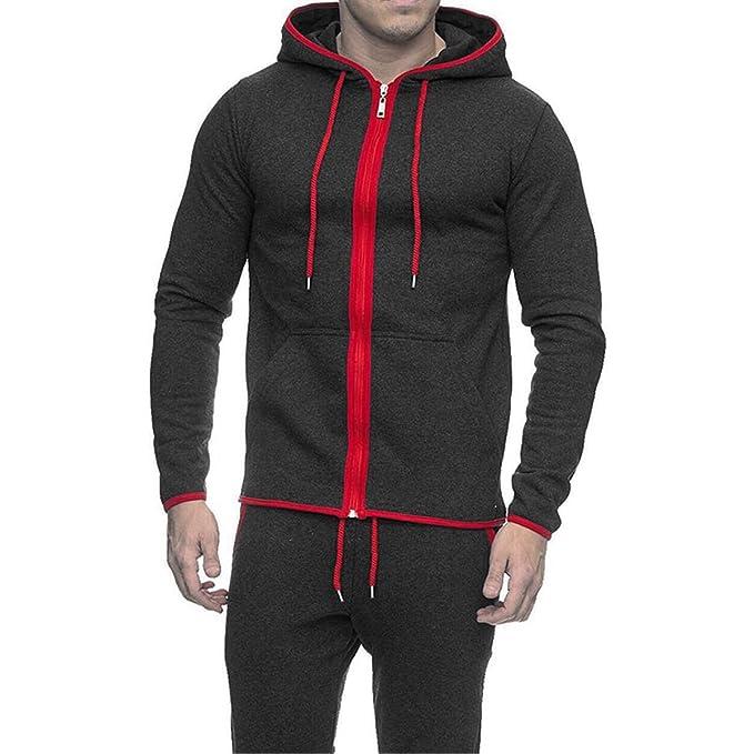 MyMixTrendz Contraste para Hombre Varsity Retro Zip Zip up Sudadera con Capucha Sudadera con Cremallera Chaqueta
