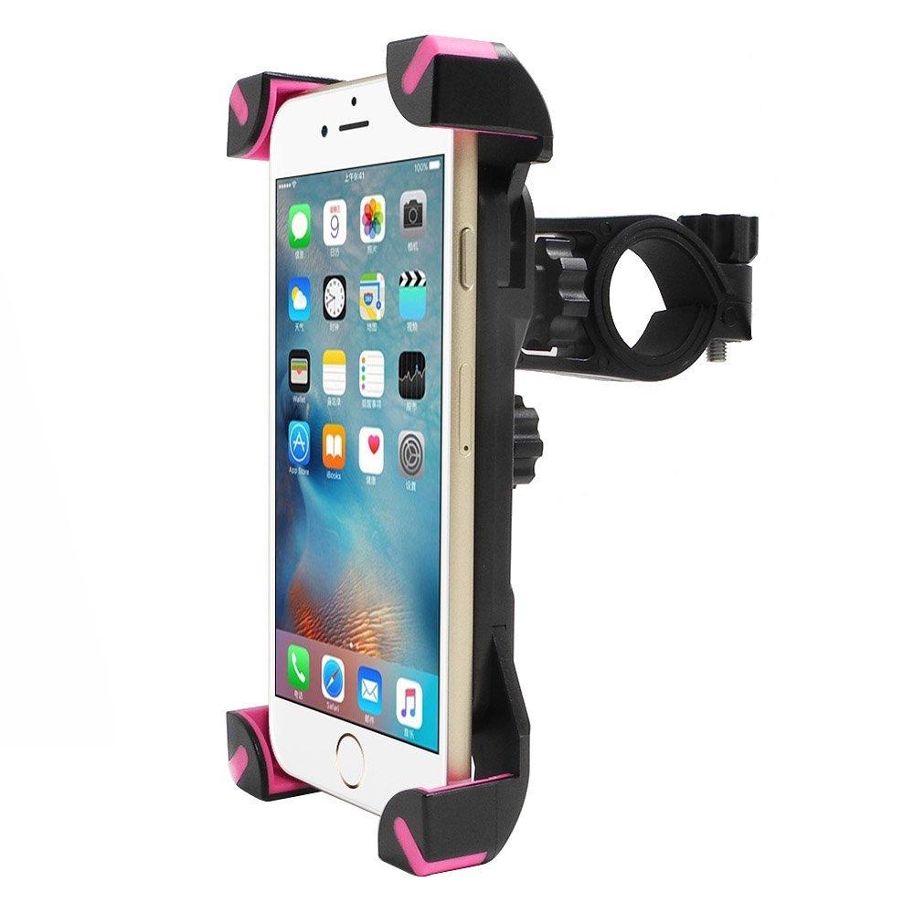 バイクマウント、Incart 360 °ユニバーサル自転車ハンドルバーロールバー携帯電話マウントホルダークレードルfor Apple iPhone 6 / 6s / 6s Plus / 5s / 5 C / 4s、SAMSUNG GALAXY s6 / s6 Edge / s5 / s4、iOS、Androidスマートフォンブラック IN-MPH-BY02 B015ZRSKKE BM02 BM02