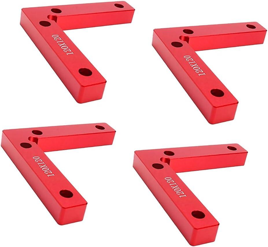 Abrazaderas De /ángulo Recto De Aleaci/ón De Aluminio Herramienta Para Carpinter/ía LOVIVER Cuadrados De Posicionamiento De 90 Grados 4.7 X 4.7 Pulgadas