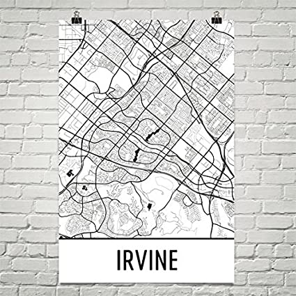 Amazon.com: Modern Map Art Irvine Poster, Irvine Art Print ...