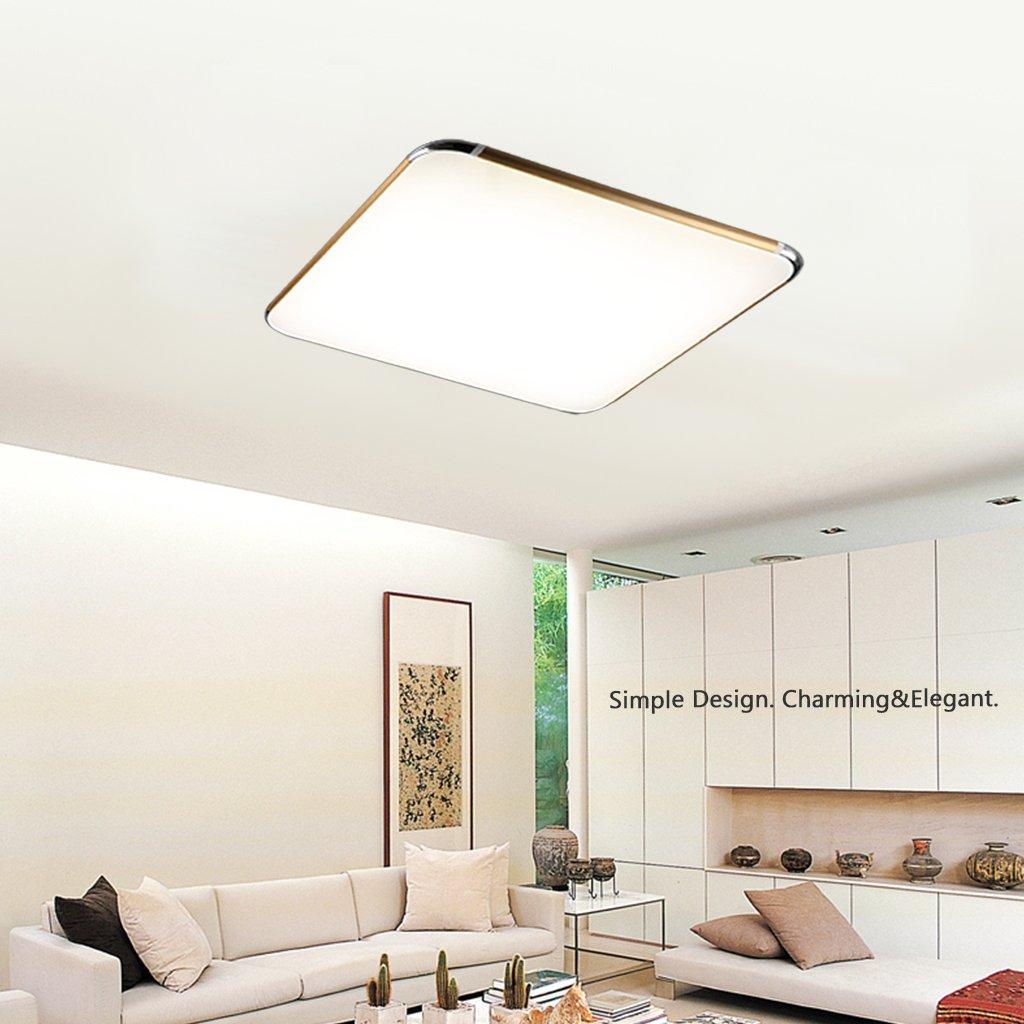 Floureon 56 64W LED Deckenlampe Smart Deckenbeleuchtung Dimmbar Mit Fernbedienung Fr Wohnzimmer Schlafzimmer Kinderzimmer Kche Modern Badlampe 4600Lumen