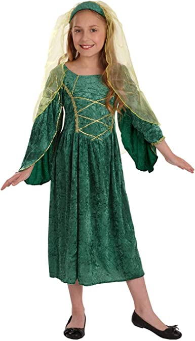 Medieval Princess Girls Fancy Dress Fairy Tale Tudor Kids Childs Costume Outfit