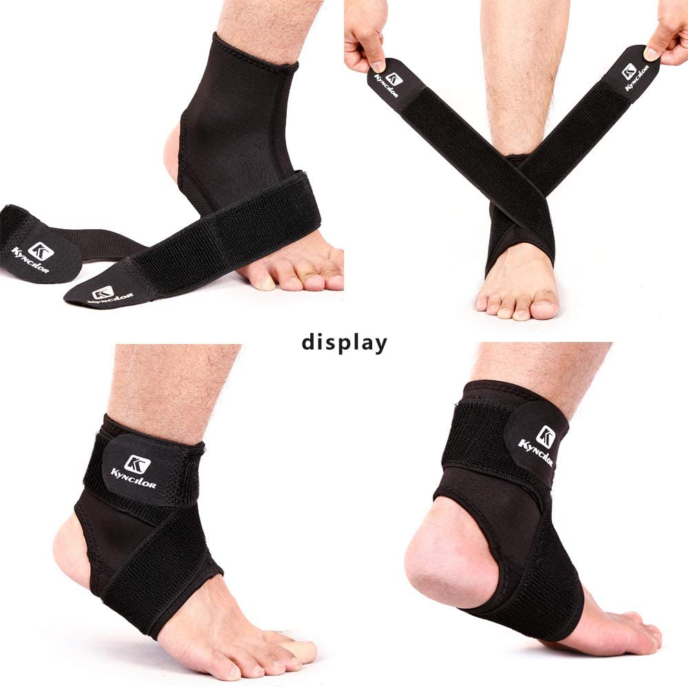 KYNCILOR Ankle Support Adjustable, Ankle Braces Pain Relief Elastic Compression Stabilizer Prevent Sprain for Volleyball, Basketball, Fitness, Running, Both for Men and Women : Sports & Outdoors