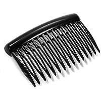 EVITA PERONI Black Resin Hair Side Comb Clip Accessories for Women