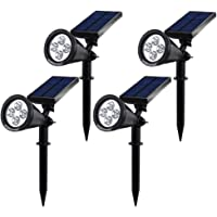 4-Pack Hallomall 200 Lumens LED Solar Wall Lights