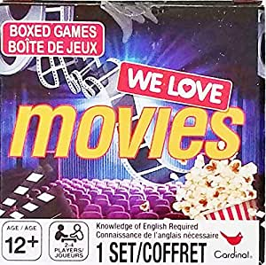 We Love Movies – Juego de Cartas de Preguntas de Cine Trivia – diversión Familiar, 2 – 4 Jugadores – Listo, Set, acción.: Amazon.es: Juguetes y juegos