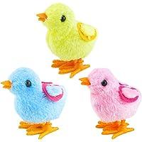 LUOEM 3pcs Easter Wind-Up Toys Novedad Wind-up Pollo