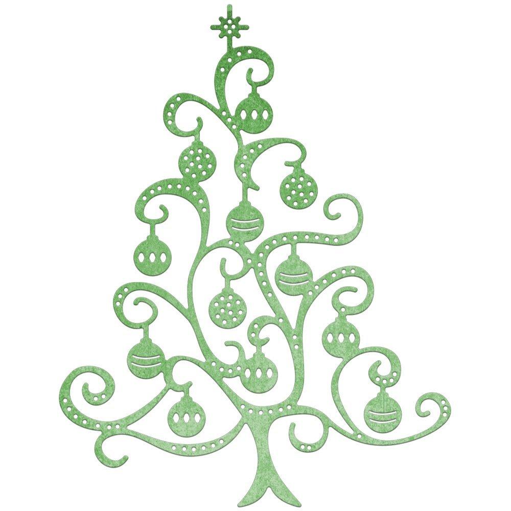 Cheery Lynn Troquelado Feliz De árbol De Navidad Adornos Para
