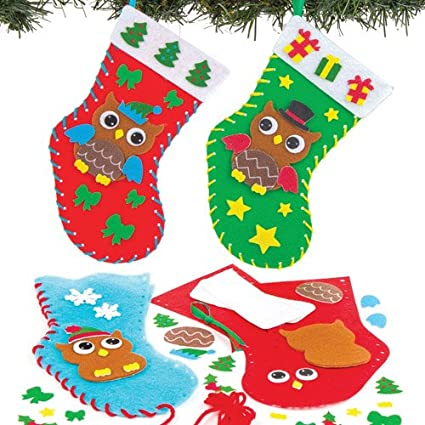 Amazon Com Christmas Owl Stocking Kits Perfect For Xmas Children S