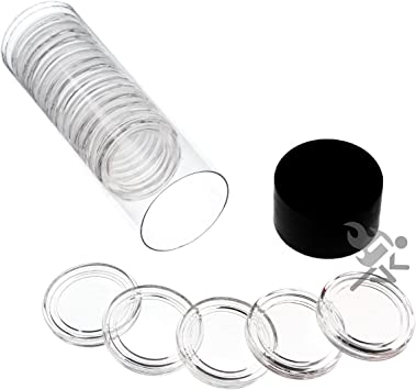 "10 Pack Black Lid Capsule Tube for all /""A/"" Direct Fit Air-Tite Coin Holders"