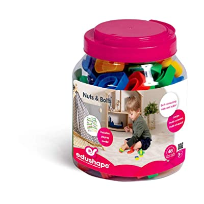 Edushape Ez-Grip Nuts and Bolts, 48 Piece: Baby