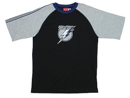 7e259457e Reebok Tampa Bay Lightning NHL Mens Short Sleeve Crew T-Shirt, Black-Grey