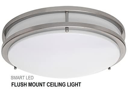 smartled 16 inch led flush mount ceiling light fixture antique