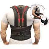 Back Support Belts Posture Corrector Back Brace Improves Posture and Provides For Lower and Upper Back Pain Men and Women (M)