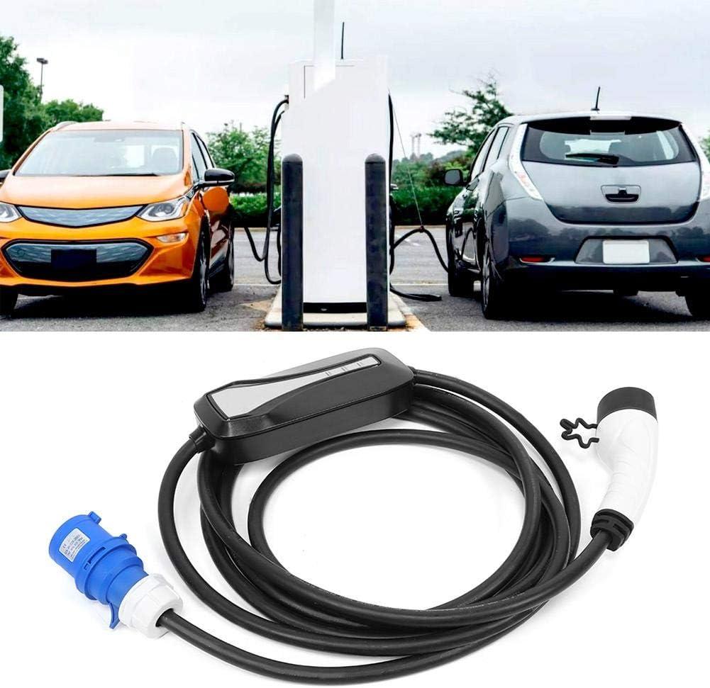 32A Caricabatterie EV Spina CEE Caricabatterie portatile per auto elettrica Stazione di ricarica per veicoli elettrici Connettore femmina UE 220V-250V con cavo 16,4ft Universale