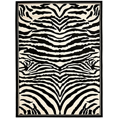 Safavieh Lyndhurst Collection LNH226A White and Black Area Rug (6' x (Zebra Black Area Rug)
