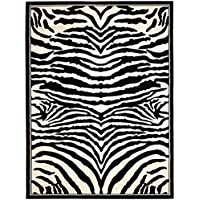 Safavieh Lyndhurst Collection LNH226A White and Black Area Rug (5'3' x 7'6')