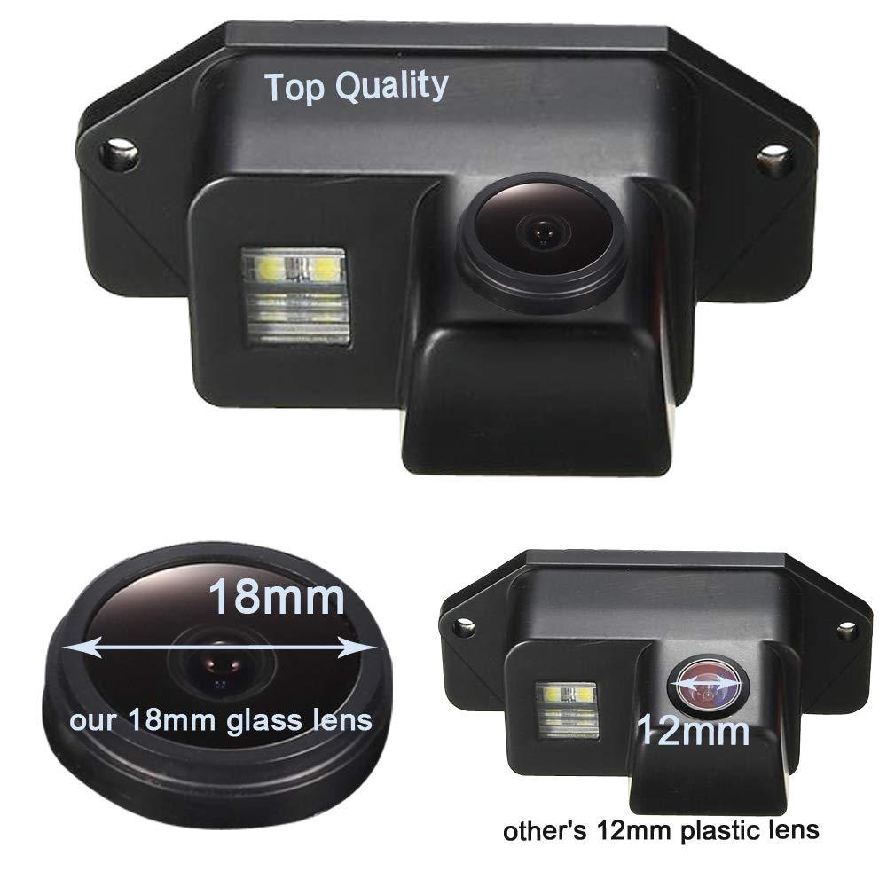 Super HD CCD Sensor IP68 170 Gran Angular Visión Nocturna Vista Posterior Cámara de Marcha atrás para Mitsubishi Lancer Evolution 2007-2014 (No.0808(80 * 35mm))