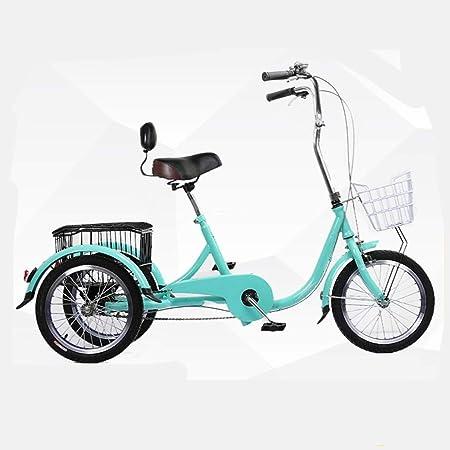 Adulto Triciclo, Crucero De Tres Ruedas De Bicicletas, Bicicleta 3 Ruedas, Ruedas De 16 Pulgadas, Llantas, Trikes con La Carga Cesta, Una Silla Ergonómica, De Múltiples Colores: Amazon.es: Hogar