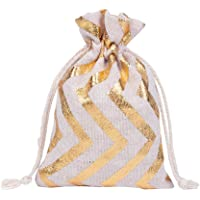 Packaging Bags 50Pcs/Lot 10X14 13X18Cm Santa Festival Jewelry Bags Packing Natural Linen Cotton Pouches Sachet Pouches…