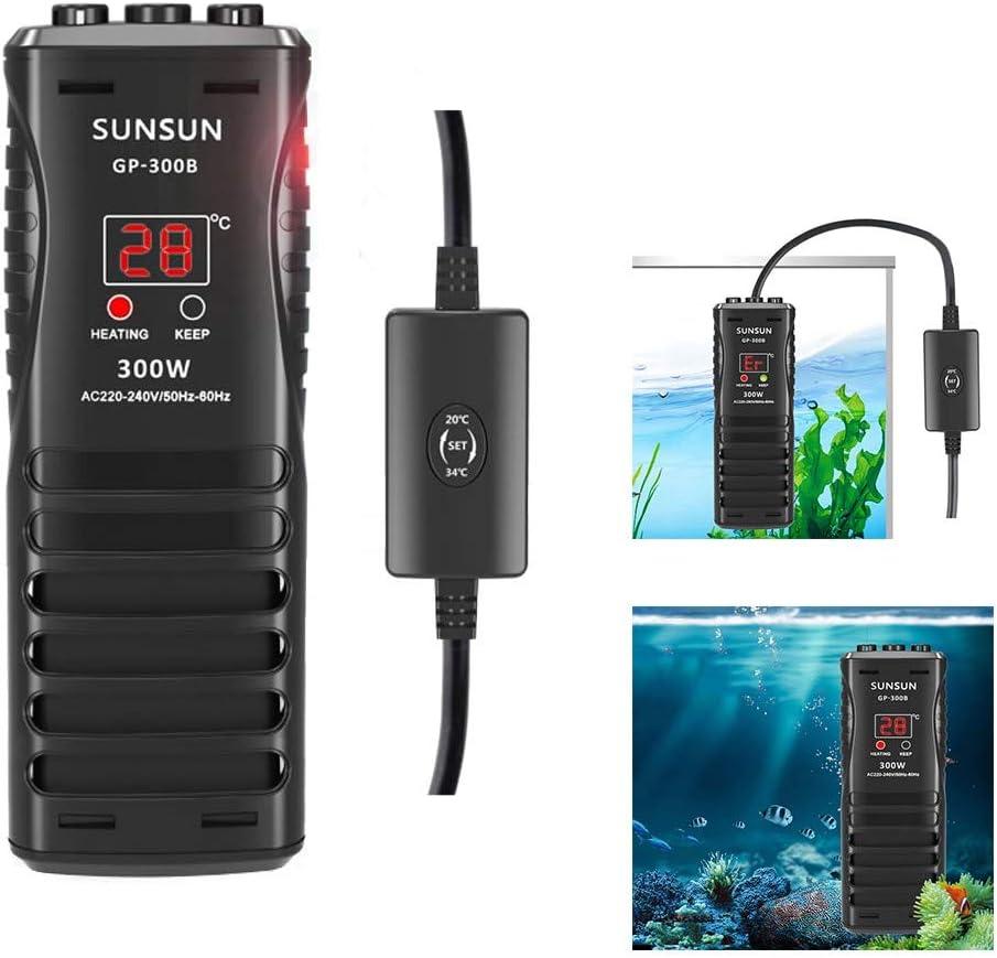 Calentador Sumergible del Tanque de Peces con indicador Digital del LED y Temperatura Ajustable para un m/áximo de Tanques de Peces 50W FISH-F Acuario del Calentador de Agua