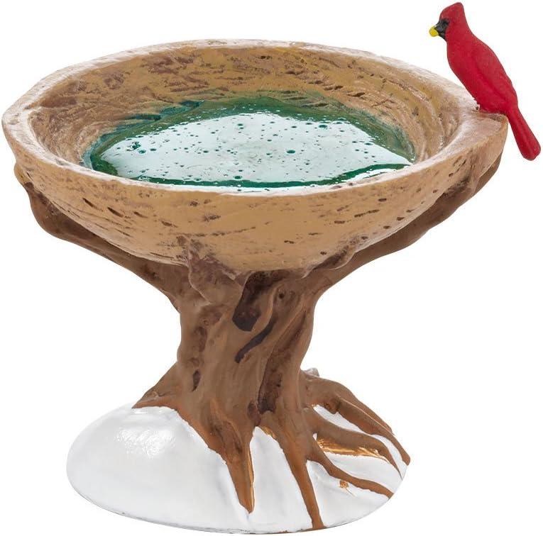 Department 56 Woodland Bird Bath, 1.57 inch