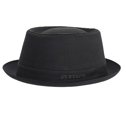 f4d8f52f6 Stetson - Porkpie Hat men Athens Cotton - Size 61 cm: Amazon.co.uk ...