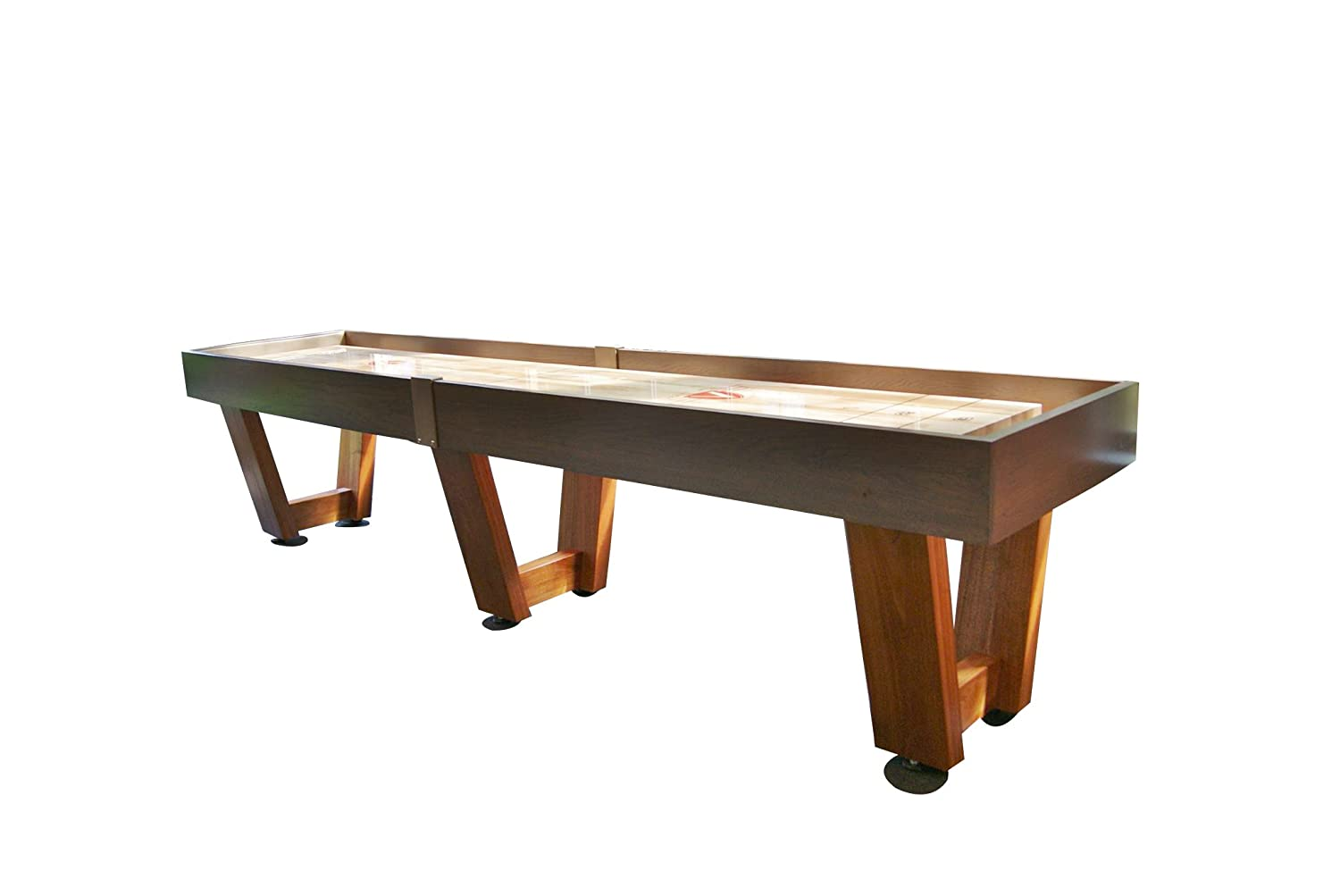 Monaco Shuffleboard Table U2013 Gaming Board With Playing Accessories U2013  Gameroom Furniture U2013 Wood Game Table With Ash U0026 Grey Stain   12u0027/14u0027/  16u0027/18u0027/20u0027/22u0027 ...