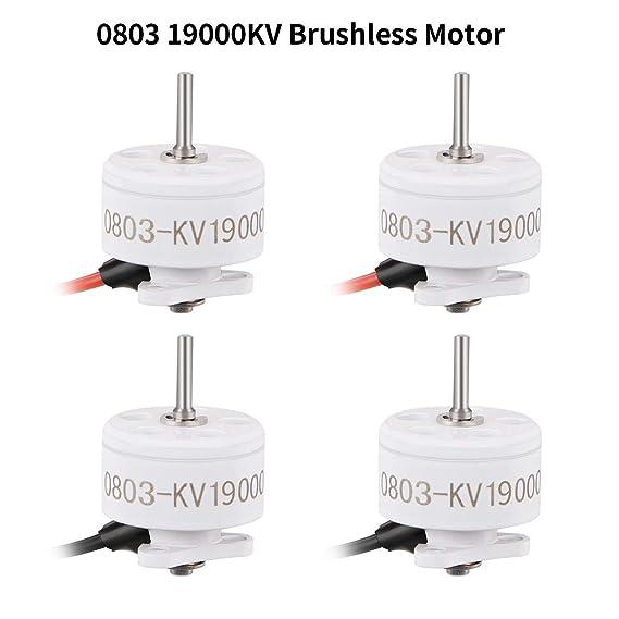 RCRuning-EU 4pcs 0803 19000KV Motores sin escobillas 1S SE0803 Micro Drone Motor para 65mm-85mm Sin escobillas Whoop Like Snapper7 Micro FPV Racing Drone: ...
