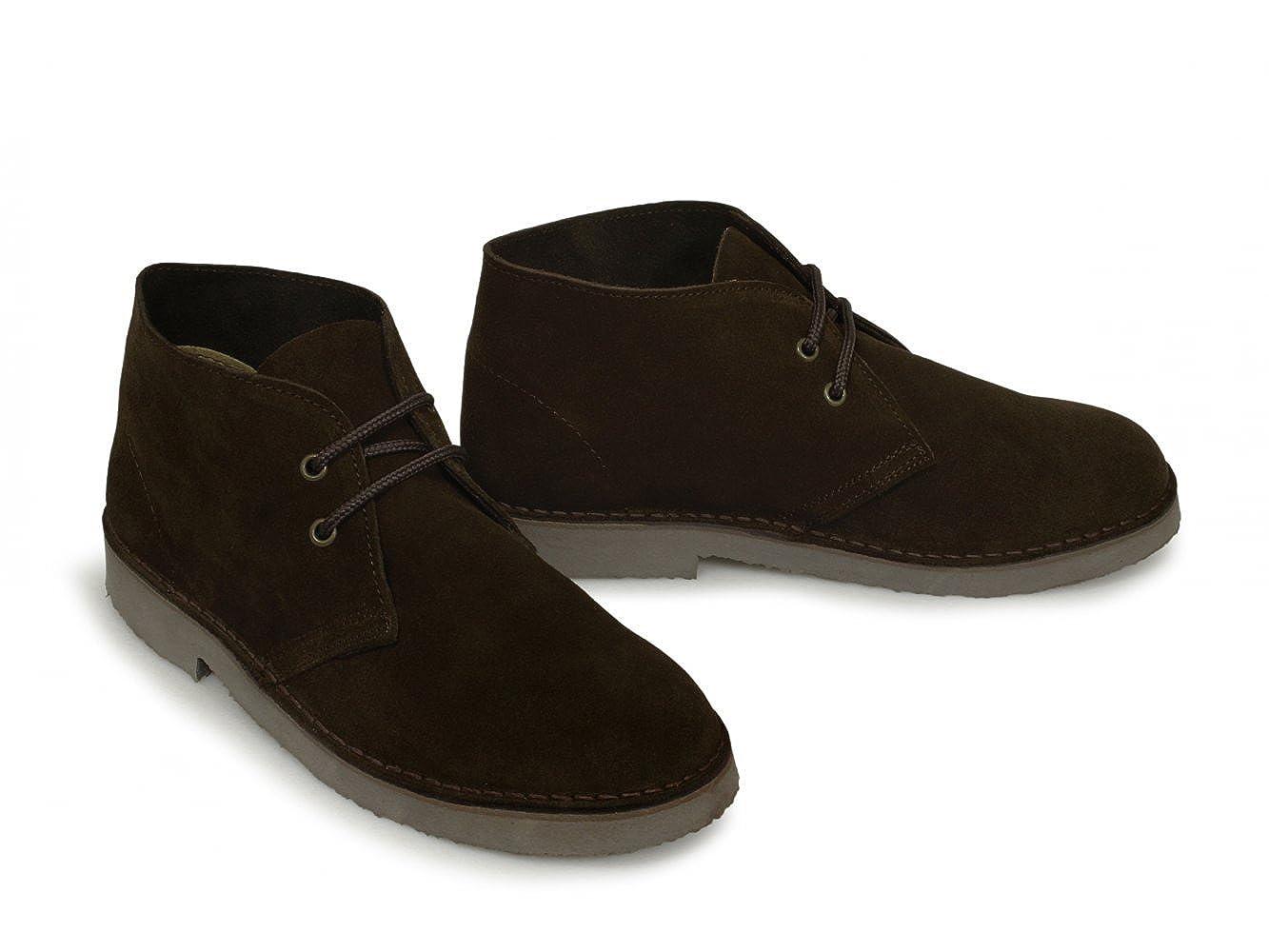 c64d7488f94 Roamers - Roamers Fashion Desert Boots - Dark Brown Real Suede, Mens UK 3 /  EU 37