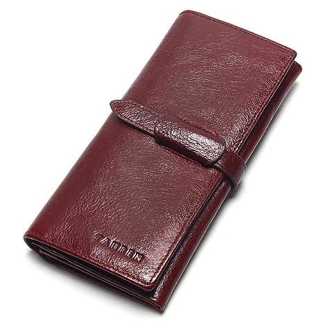 Nueva Billetera para Mujer, Billetera de Cuero con Bloqueo de RFID para Mujer, Billetera