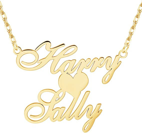 18K Gold Plated Custom Name Necklace Nameplate Pendant Jewelry Gift for Women Novgarden Name Necklace Personalized Girls