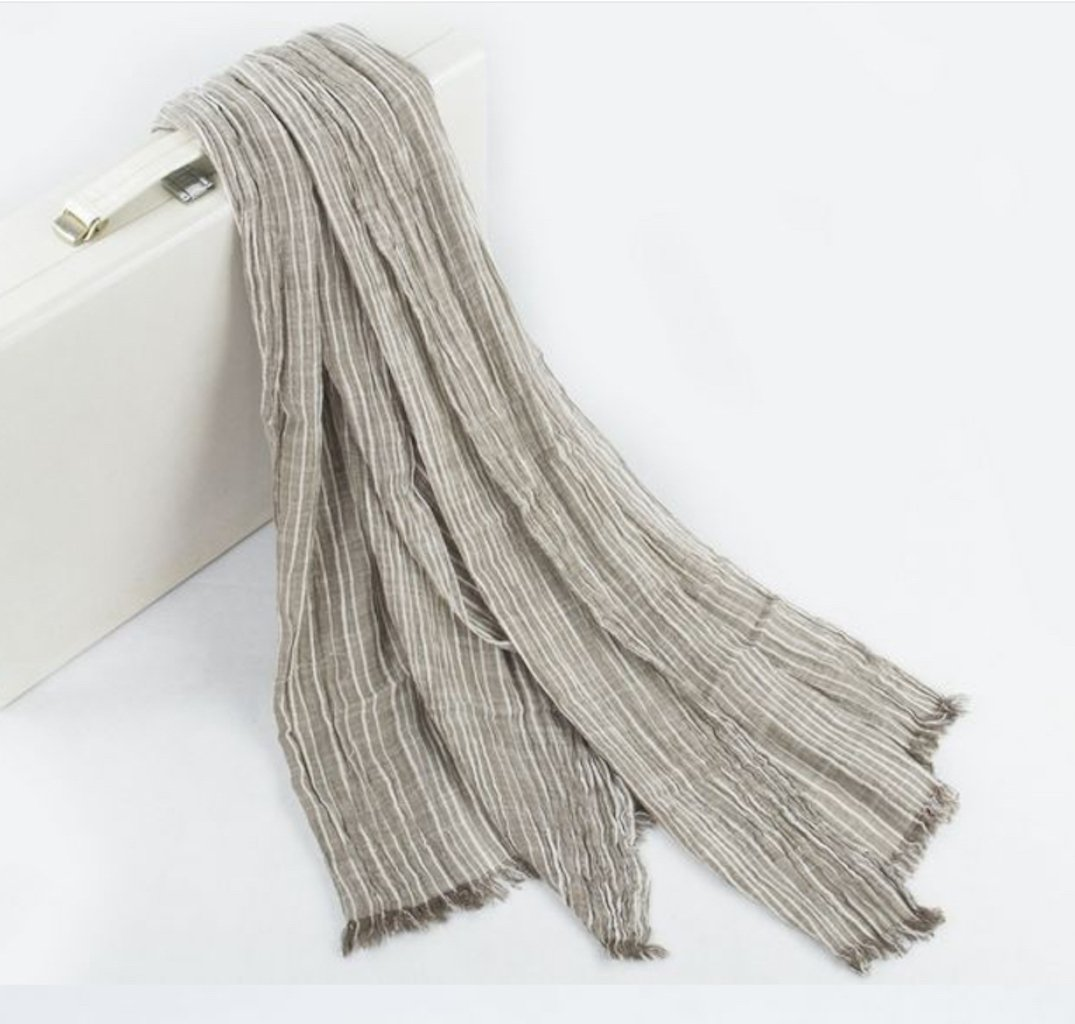 Cotton Scarf Shawl Wrap Soft Lightweight Scarves And Wraps For Men And Women. (Beige cream) by Jeelow (Image #8)