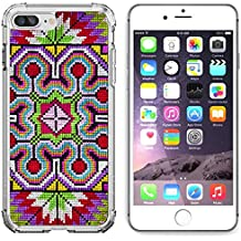 Luxlady Apple iPhone 6 Plus iPhone 6S Plus Clear case Soft TPU Rubber Silicone Bumper Snap Cases iPhone6 Plus iPhone6S Plus IMAGE ID: 21135353 Colorful cross stitch cloth background