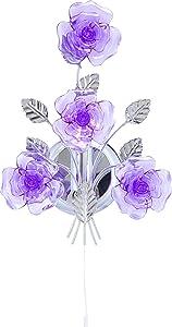 SLV Applique murale avec interrupteur pour lampe murale Motif fleurs Violet