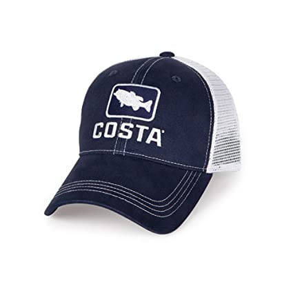 Amazon.com  Costa Del Mar Bass Trucker Hat a8f903a5a852