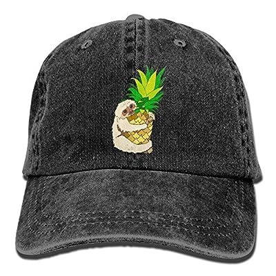 Jusxout Pineapple Sloth Vintage Unisex Adjustable Baseball Cap Dad Hat