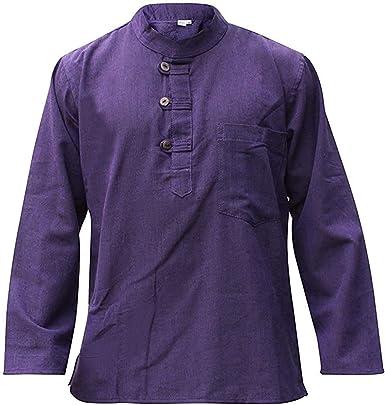 Shopoholic FASHION HOMBRE MEDIA CON MANGAS HIPPY Camisa De Abuelo