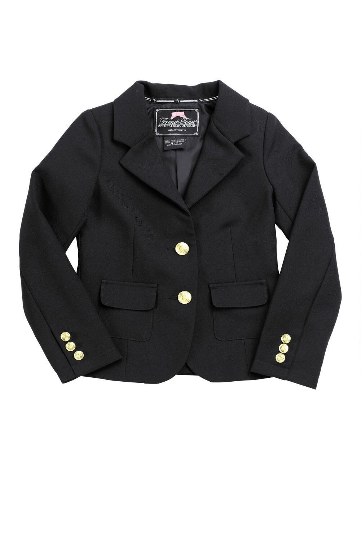 French Toast Girls Dress Blazer(Size 4-6X/7) Black 6X