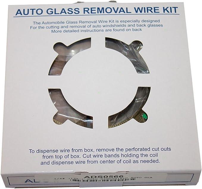 Alupre Car Windshield Removal Tools Kit Windscreen Window Glass Cutting Wire W//Handles