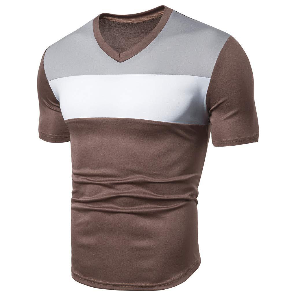 Btruely Camisetas Hombre Originales Manga Corta Verano Moda Color de Hechizo Bolsillo Polos Personalidad Casual Remera Slim Camisas