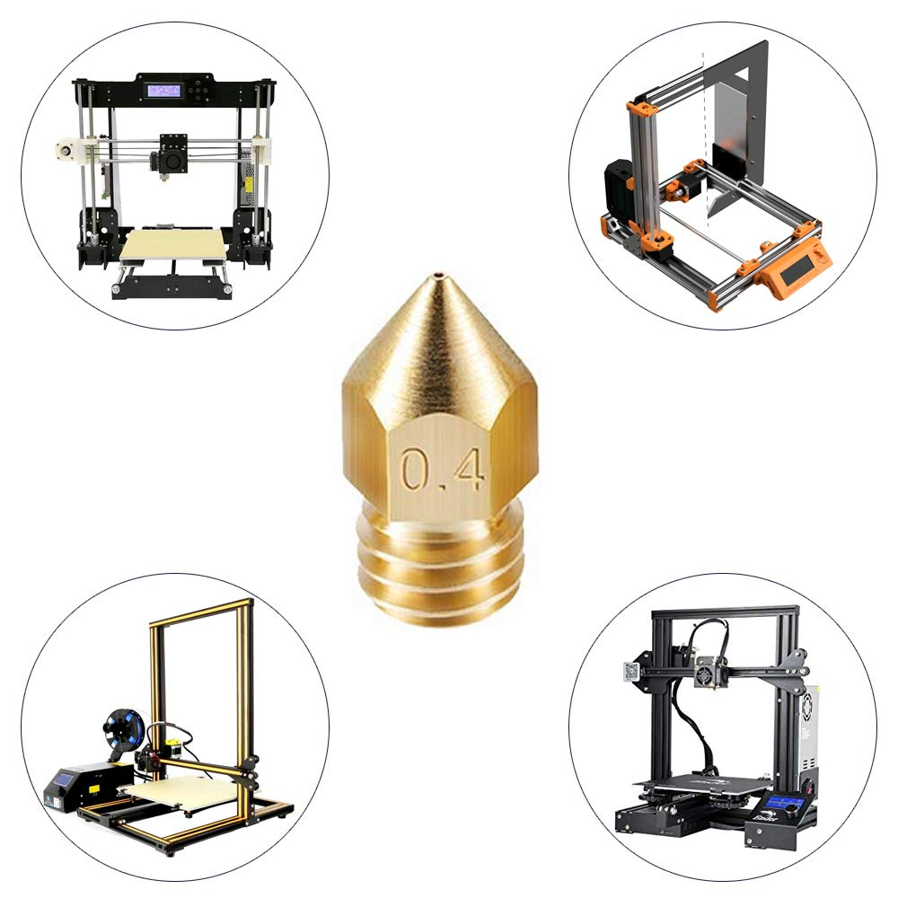 0.6mm 3D Printer Nozzles with 5Pcs Nozzle Cleaning Needle for 3D Printer Makerbot NACTECH 10 Pcs Mk8 Nozzle 0.2mm 0.3mm 0.5mm 0.4mm
